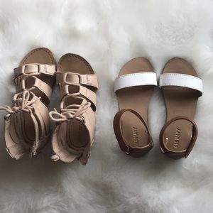 Two pairs of tddler girls Old Navy sandals